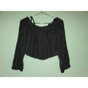 NEW Urban Outfitters Black Off The Shoulder Top